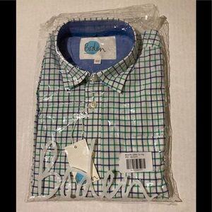 Boden boys plaid shirt size 13-14